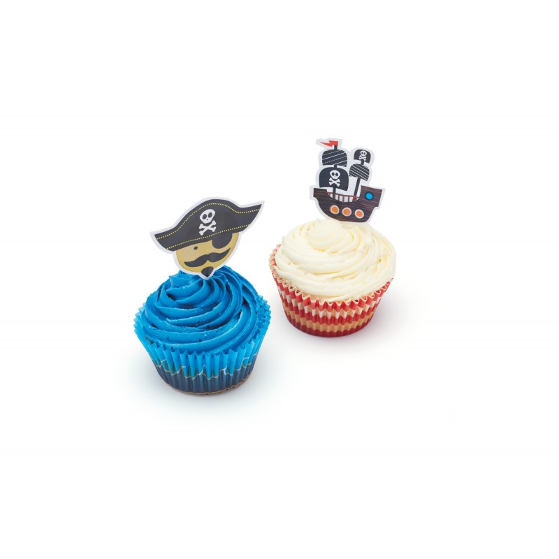 Kit cupcakes pirata & nave - Kitchencraft -