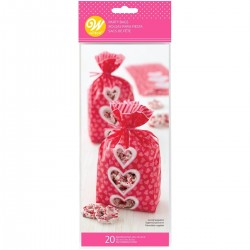 20 sacchettini regalo Be Mine - Wilton -