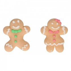 8 decorazioni Gingerbread Man - Funcakes -