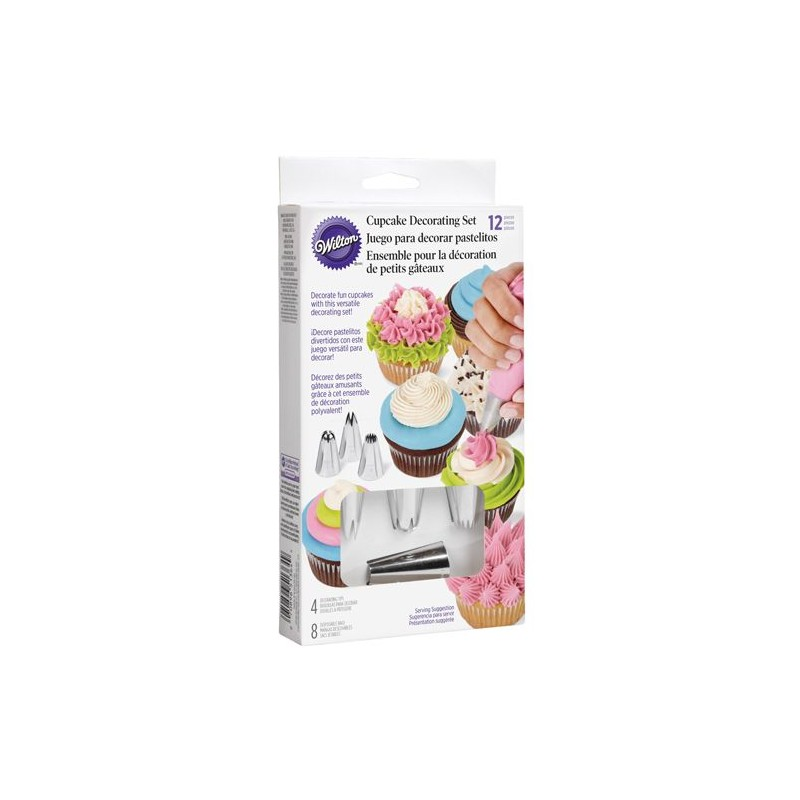 Wilton set decorazione cupcake (4+8 pz) - Wilton -