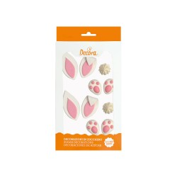 "Decorazioni ""make a bunny"" in zucchero (2 set da 5 pz - Decora"