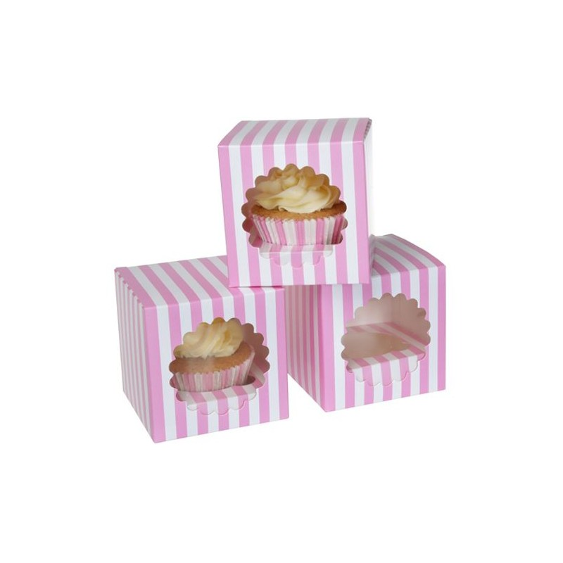 Scatola per cupcakes singolo (3 pz) - House of Marie