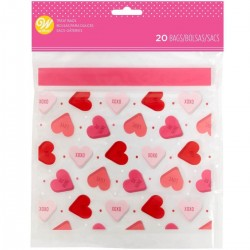 20 sacchettini regalo Cuoricini small - Wilton